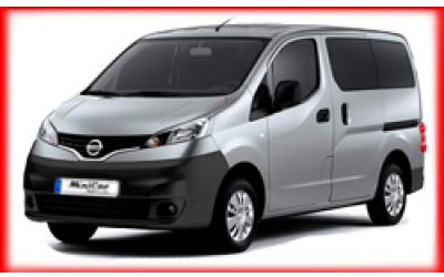 Minicar Rent a Car - Nissan NV200 or similar
