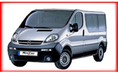 Minicar Rent a Car - Opel Vivaro or similar ( 9 seater)